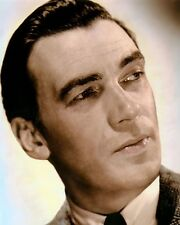 """WALTER PIDGEON CANADIAN ACTOR MOVIE STAR 8x10"""" HAND COLOR TINTED PHOTOGRAPH"""