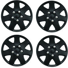 "Tempest Black 13"" Car Wheel Trims Hub Caps Plastic Covers Universal (4Pcs)"