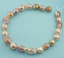"""Huge Kasumi Like Freshwater Baroque Flameball Necleated Pearl 16.5"""" Strand"""