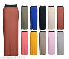 Womens Gypsy Long Jersey Maxi Dress Skirt Ladies Skirt