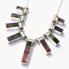 Echte Edelstein-Halsketten & -Anhänger im Collier-Stil aus Sterlingsilber mit Turmalin