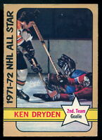 1972 73 OPC O PEE CHEE Hockey #247 KEN DRYDEN EX-NM ALL STAR MONTREAL CANADIANS