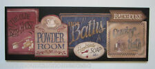Bath House Sign Country Rustic bathroom wall decor picture primitive wood plaque