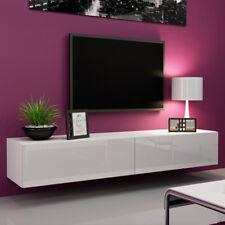 White Wooden Coffee Table Storage Matte Sofa Tray Organizer Console TV Stand