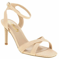 SCHUH FANCY WOMENS LOW HEELS ANKLE STRAP SANDALS SHOES SIZE UK6