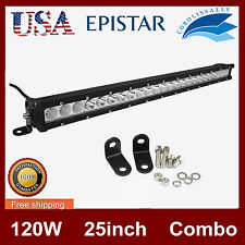 Slim LED Bar light 25inch 120W Single Row Combo Offroad Truck UTE Driving 12V24V