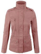 Women's Zip Up Military Anorak Safari Jacket with Pockets Coats S-3X