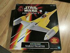Star Wars Episode 1 Electronic Naboo Fighter NIB Sealed