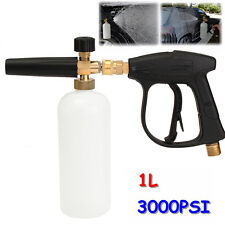 1L Protable Snow Foam Washer Gun 3000PSI High Pressure Lance Bottle Cleaning Car