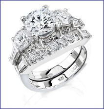 Gorgeous 18K Beverly Hills 1.65ct Diamond Engagement Semi Mount & Matching Band