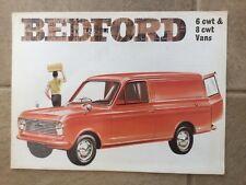 Bedford HA Van 1969-70 UK Market Foldout Sales Brochure 6cwt 8cwt Viva