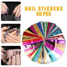 50pcs/set Nail Foil Nail Art Transfer Sticker Water Slide Nail Art Decal Decor