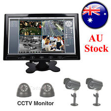 "10"" HD HDMI LCD Screen Home Security Monitor w/ Speaker+Remote Control AU STOCK"