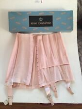 Vintage Pink Open Bottom Corset Girdle W Garters Never Worn Tags Box Size 28