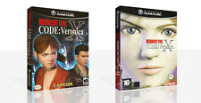 Resident Evil Code Veronica X Estuche De Game Cube de Repuesto + Caja obras de arte sin juego