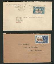 Trinidad & Tobago (6) Covers 1906//40 Inc Wrapper, Post Card, Foreign Destinatio