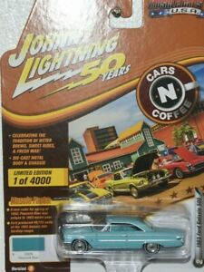 2019 JOHNNY LIGHTNING 50 YEARS CARS N COFFEE 1963 FORD GALAXIE 500 <OPEN HOOD>