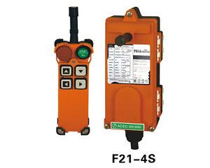 F21-4S Overhead Hoist Crane Radio Remote Control 65V-440V Transmitter&Receiver