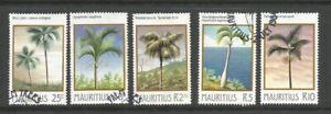 Mauritius 1984 Palm Trees Full Used Set SG 686/690