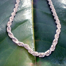 """Necklace - Sterling silver rope necklace - stamped 925 - Italy - 18"""" length"""