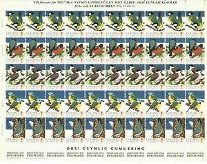 S26885) Sweden 1972/73 MNH Tuberculosis Christmas Sheet God Helg Cinderella