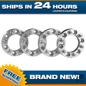 4 Wheel Spacers Adapters fits 6x139.7 for 6 lug Toyota Chevy 12x1.5 studs 1 inch
