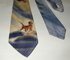 Vintage Hollyvogue Duck Hunting Theme Hand Painted Tie