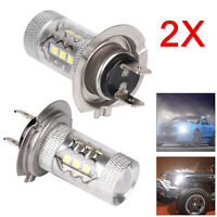 2x H7 499 LED 80w 6000k Dipped Beam Headlight Bulbs Lamp Light White UK