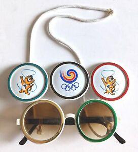 1988 Seoul Korea 24th Summer Olympics Hodori Olympic Rings Sunglasses! XXIV