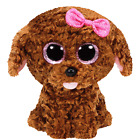 TY BEANIE BOOS MADDIE CANE BARBONCINO MARRONE BROWN POODLE DOG 15 CM T36157