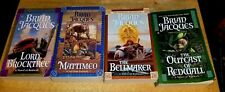 Lot of 4 Pre-Owned Brian Jacques Redwall Series Fantasy Books