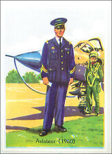 IMAGE CARD Uniforme Soldat Aviateur Aviator Armée de l'Air Française Uniform 60s