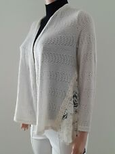 Style co Women Cardigan Lightweight NEW Size PL Color Cream Polyester Spandex L3