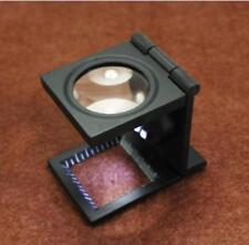 10x Vergrößerung Linen Tester Vergrößerungsglas Fadenzähler Lupe Juwelier Lupe