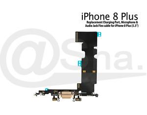 "Charging Dock Port & Mic & Headphone Jack Flex Cable For iPhone 8 Plus (5.5"")"