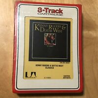KENNY ROGERS & DOTTIE WEST Classics 8-Track Cartridge Tape BRAND NEW SEALED NOS!