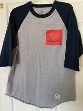 Diamond Supply Co. Men Sz L Gray 3/4 Black Sleeve Baseball Shirt Preowned