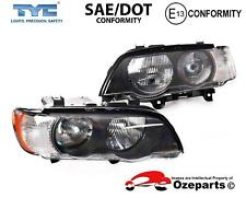 Pair LH+RH Head Light Lamp (Amber) For BMW X5 Wagon E53 Series 1 2000~2003