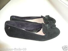 Women's Hush Puppies Everly Chaste suede flats black shoe loafer NEW size 7