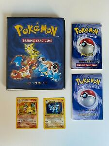 Complete 1999 Pokemon Card Base Set including Charizard & first edition Machamp
