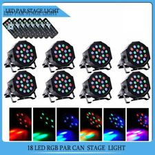 8pcs 18 Led Rgb Dmx512 Par Can Light Dj Stage Lighting Wedding Party Uplighting