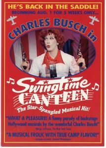 Vintage CHARLES BUSCH in SWINGTIME CANTEEN Post Card 1995 - GAY INTEREST - DRAG