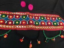 women Kuchi banjara Waist Belt belly dancing skirt costume Indian hip scarf Red