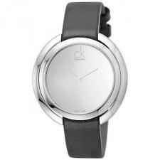 New Calvin Klein ladies watch, K3U231C8 black with silver face RRP £199