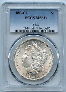 1883-CC $1 Morgan Silver Dollar Coin PCGS MS 64+