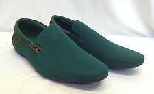 Mens Italian Moccasin Loafers Smart Green Casual Slip On Party Shoes UK Size 6 7