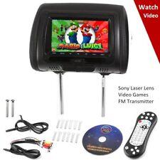 "Rockville RDP711-BK 7"" Black Car Headrest Monitors w/DVD Player/USB/HDMI + Games"