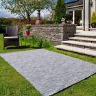Blue Indoor Outdoor Rugs Flatweave Plastic Garden Mats Lightweight Versatile Rug