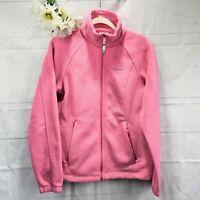 Columbia Women's Pink Polar Fleece Zip-Up Athletic Jacket Size Medium