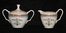 DISCONTINUED LENOX BLUE TREE PATTERN CREAM & COVERED SUGAR SET NEW